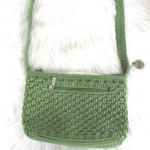 New The Sak Original Woven Purse Bag Handbag Green